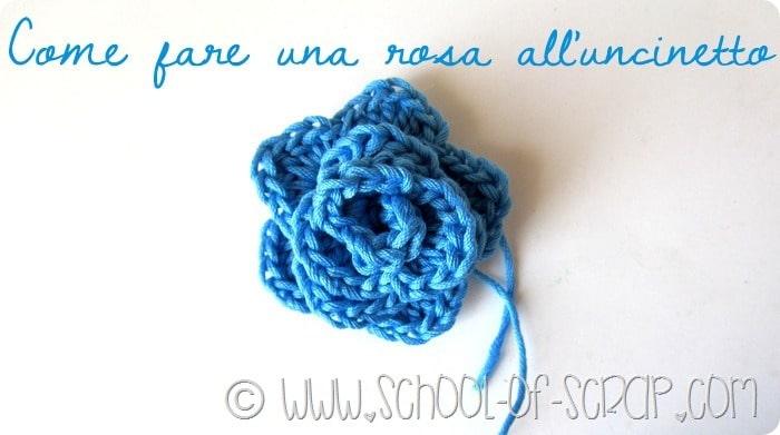 Scuola di Uncinetto: come fare una rosa a crochet