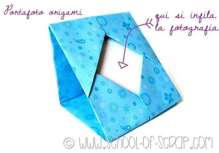 Cosa si può creare con un foglio di carta: il portafotografie origami