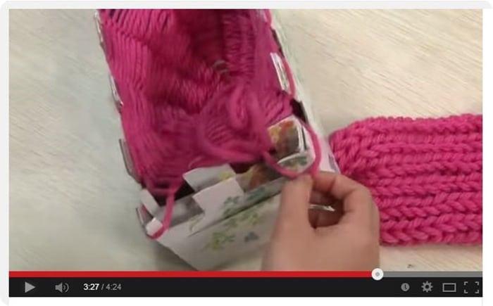 Video tutorial: come fare la maglieria magica con una scatola
