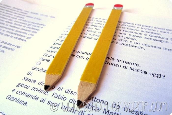 Back to School: facciamo i segnalibri a forma di matita con gli stecchini dei gelati