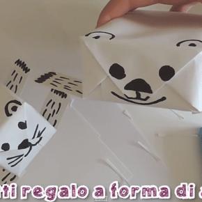 Lavoretti da #5minuti: pacchetti regalo divertenti a forma di animaletto
