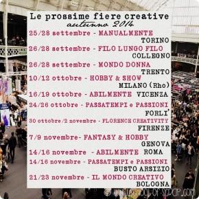 Il calendario delle più belle fiere creative dell'autunno
