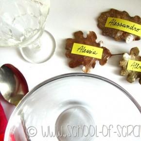 Autunno creativo: segnaposto fai da te con le foglie per una tavola speciale