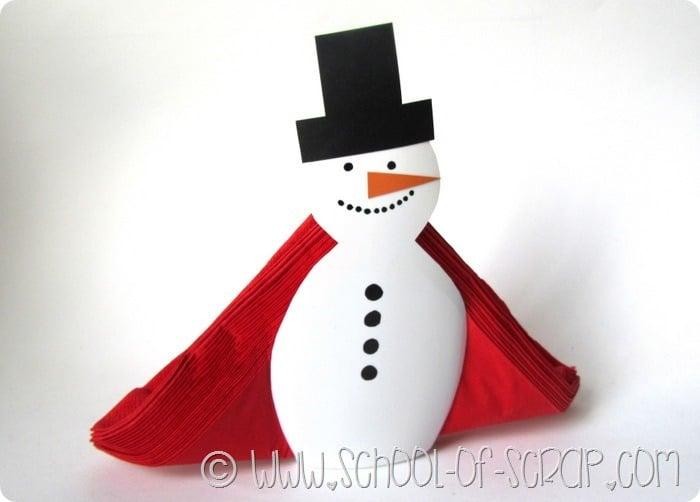 Top Natale fai da te: portatovaglioli da tavolo a forma di pupazzo di  QE26
