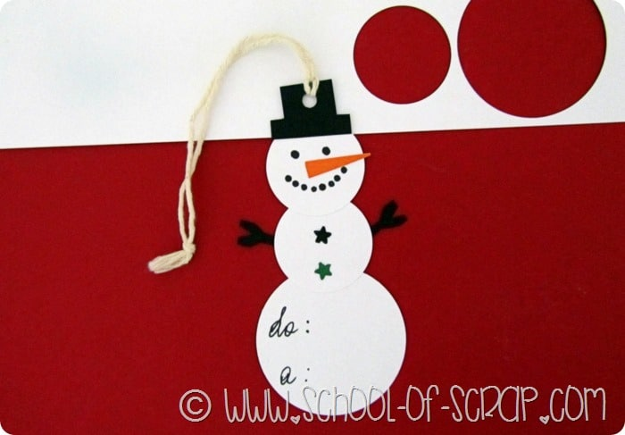 Fiocchi Di Neve Di Carta Da Ritagliare Tutorial : Idee per natale fai da te la tag a forma di pupazzo di neve per i