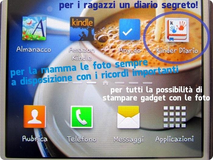 #kinderdiario Uno Scrapbook e un diario segreto in una sola app