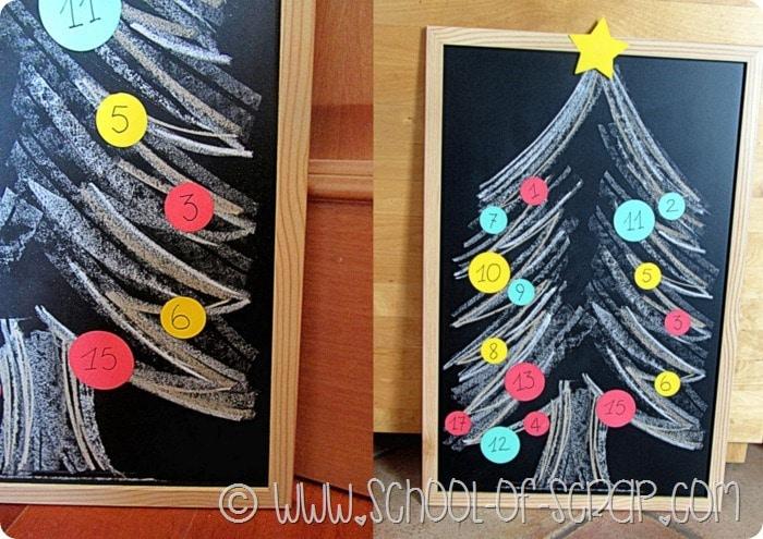 Idee per Natale: il calendario dell'avvento da fare in 5 minuti sulla lavagna