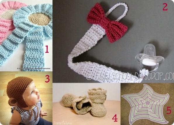 10 progetti per fare accessori per neonati all uncinetto for Idee creative uncinetto