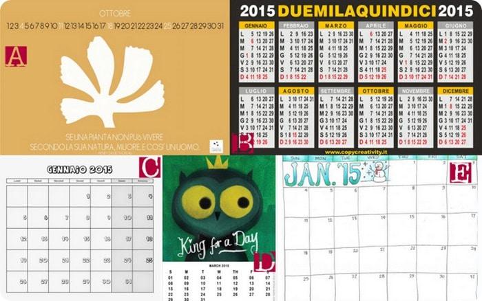 Calendario Da Scaricare.Raccolta Di Idee 10 Calendari 2015 Da Scaricare E Stampare
