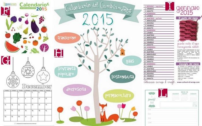 Raccolta di Idee: 10 CALENDARI 2015 DA scaricare e STAMPARE gratis