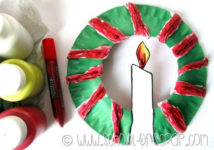 Idee per Natale: la ghirlanda a costo zero per #esperienzacreativa