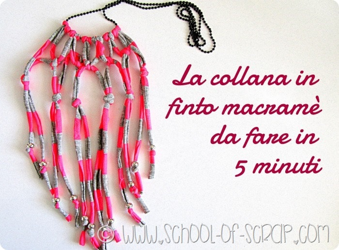 Video tutorial: Come fare una collana in finto Macramè in 5 minuti