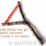 Giochi fai da te per bambini: la fionda con gli elastici colorati band loom