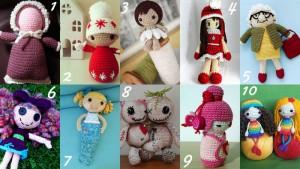10 tutorial GRATIS per fare bambole amigurumi a crochet.
