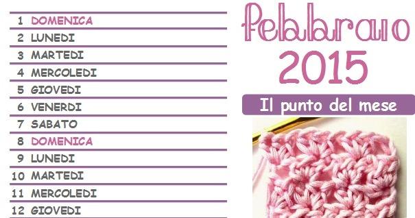Calendario all'uncinetto 2015: arriva finalmente la pagina di febbraio