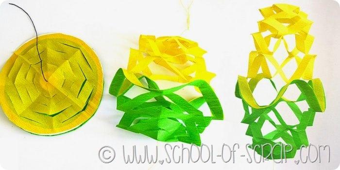 Carnevale e feste fai da te: come fare un festone di carta colorata
