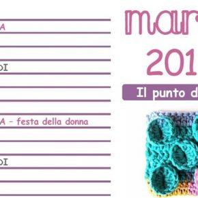 Calendario all'Uncinetto: arriva il mese di marzo 2015