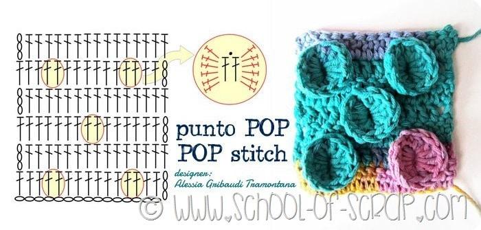 Scuola di Uncinetto: il punto POP (POP stitch)