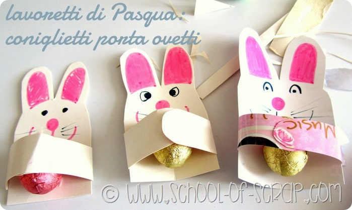 Lavoretti di Pasqua: come fare i coniglietti porta ovetti