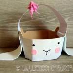 Idee di Pasqua: trasformare una scatola in coniglietto e cestino portauova