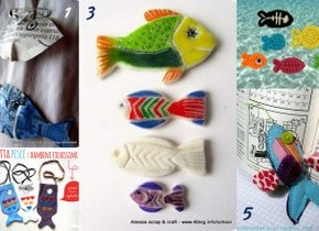 Raccolta di Idee: 10 progetti per fare Pesci e pesciolini per il primo aprile e non solo