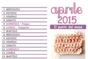Calendario all'uncinetto: da scaricare e stampare il mese di aprile 2015