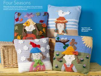 Scuola di Uncinetto: 8 progetti nell'ebook dedicato ai cuscini a crochet