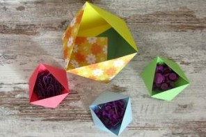 Idee Origami video: come fare ciotole portatutto di carta in 5 minuti