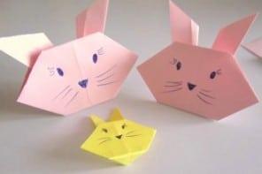 Lavoretti per bambini video: come fare coniglietti e gattini origami