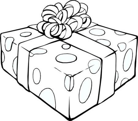 disegni da colorare pacco regalo
