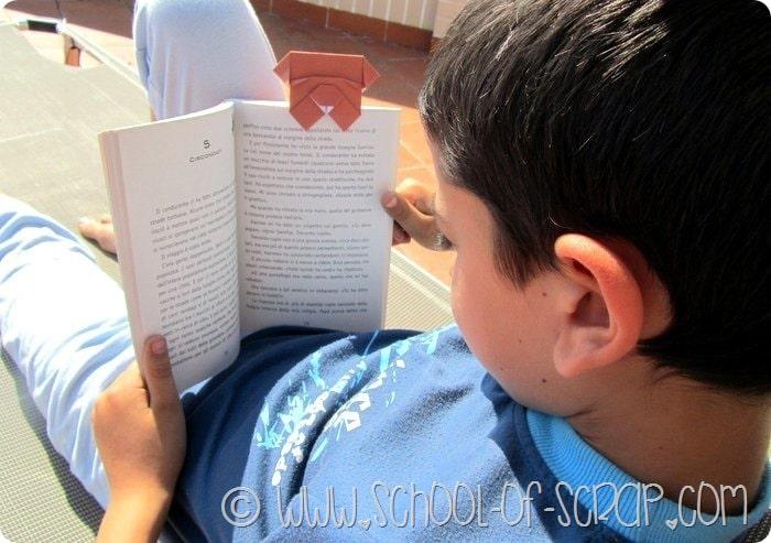 Il segnalibro faidate di carta e origami per i nostri libri #CrescoConGiunti
