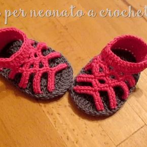 Scuola di Uncinetto video: come fare dei bellissimi sandali per neonati