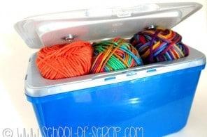BACK TO SCHOOL: da scatola delle caps del detersivo a portamerenda o porta crochet