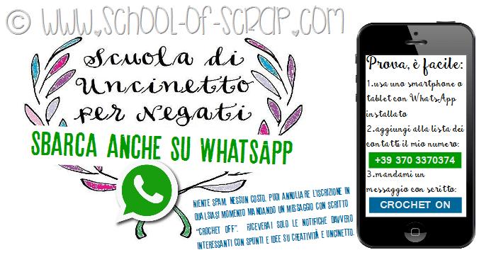 #CROCHETonWhatsApp: la Scuola di Uncinetto per Negati sbarca anche su WhatsApp