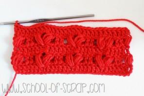 Scuola di uncinetto: tutorial del punto cuori o heart stitch
