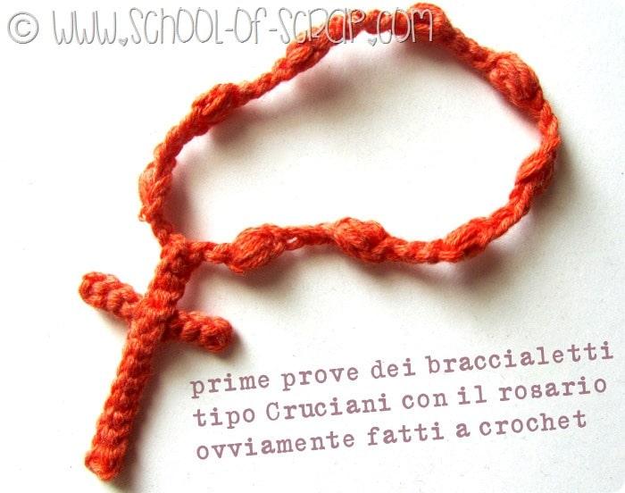 Scuola di Uncinetto come fare il braccialetto con rosario per l\u0027estate