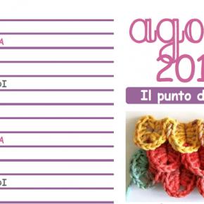 Calendario all'uncinetto: da scaricare e stampare il mese di agosto 2015