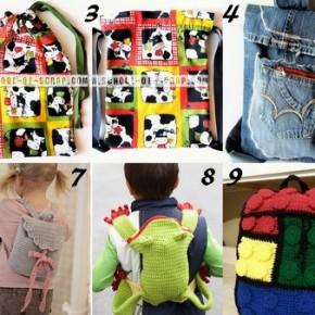 Raccolta di Idee: 10 tutorial per fare sacche e zaini per la scuola e non solo