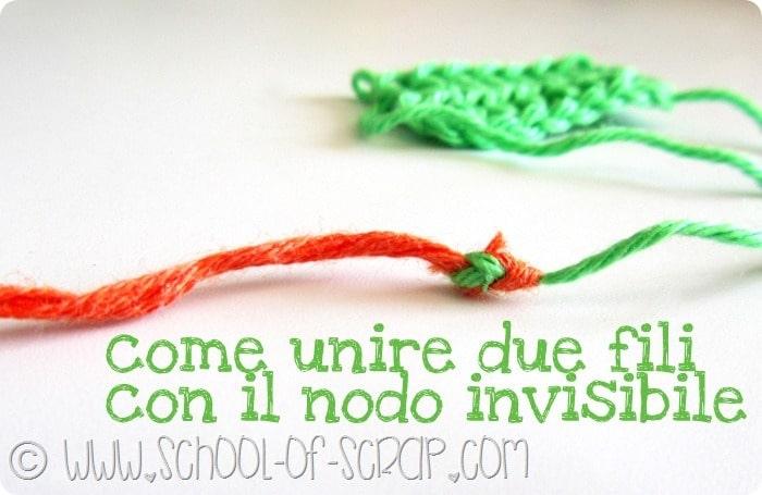 unire due fili con il nodo invisibile