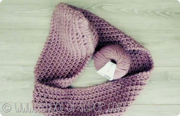 Cool Wool: cappuccio infinity fatto a crochet con la lana spessa di Bettaknit