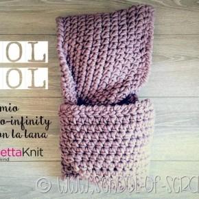 Cool Wool: cappuccio-infinity fatto a crochet con la lana spessa di Bettaknit
