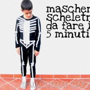 Halloween con i bambini: costume da scheletro fatto in 5 minuti