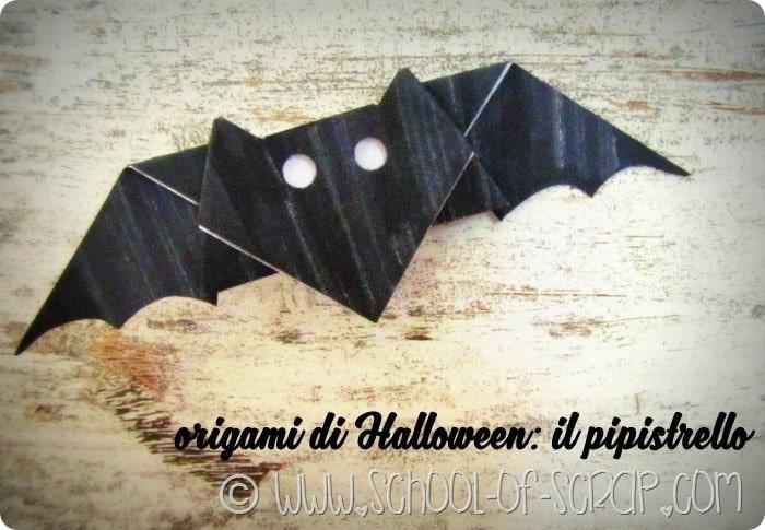 Origami di Halloween: il pipistrello facile facile