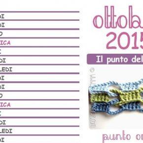 Calendario all'uncinetto: ecco pronto il mese di ottobre 2015