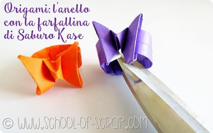 Origami facile: facciamo l'anello con la farfallina in 1 minuto