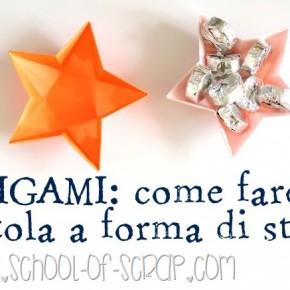 Natale in 1 minuto: la ciotola di carta origami a forma di stella