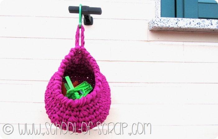 Scuola di uncinetto: come fare il porta mollette di fettuccia #iloveopitec