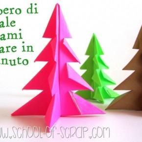 Natale in 1 minuto: l'albero di Natale origami