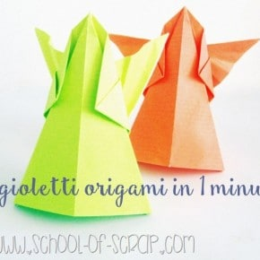 Natale in 1 minuto: gli angioletti origami video tutorial