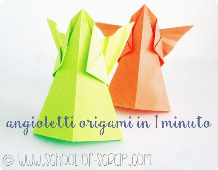 Natale in 1 minuto: gli angioletti origami video tutorial